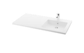 silkstone basin Credo 120cm,basin on  right