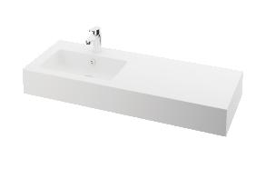 silkstone basin Opus 120cm,basin on  left, h 15 cm