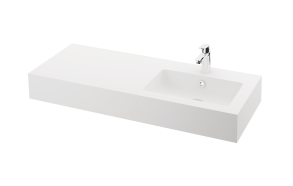 silkstone basin Opus 120cm,basin on  right, h 15 cm