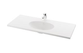 silkstone basin Ovus 120cm,basin on centre