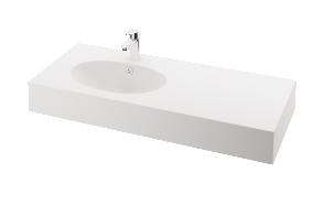 silkstone basin Ovo 120cm,basin on  left, h 15 cm