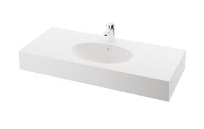 silkstone basin Ovo 120cm,basin on centre, h 15 cm