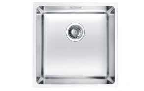 stainless steel undermount basin KOMBINO 30, 40x40x19,5 cm, waste 3 1/2´´, satin finish. Drain is not included