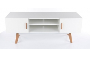 tv stand Nordic 2, oak+white