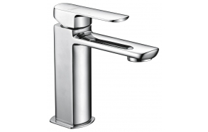 MIXONA basin mixer without pop up waste, chrome