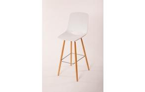 bar chair Wasowsky white, beech feet