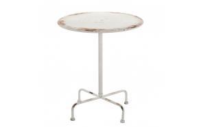round vintage metal table