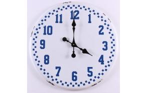 white+blue vintage wall clock
