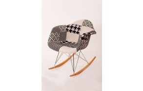 "swinging chair Beata, ""grey patchwork"""