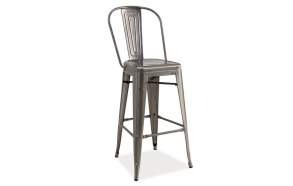 bar stool Amelia, stainless steel