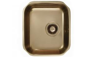 kandiline köögivalamu Monarch VARIANT 40 tööpinna alla, 34x40x18.5 cm, äravool 3 1/2´´, roostevaba, pronks viimistlus. Komplektis pronks viimistlusega põhjaklapp ja sifoon.