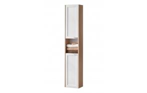 tall cabinet (2D) Piano, oak+white