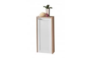 low cabinet (1D) Piano, oak+white