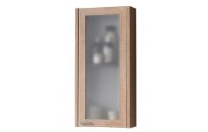 upper cabinet (1D) Piano, oak