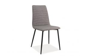 chair Niklas, grey fabric + metal feet