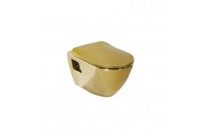 SINGLE WALL HUNG CLOSET-2 GOLD, NO SEAT