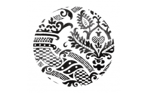 decorative ceramic plate Damask1 for drain plug, basins Cocktail, Flute, Hurricane