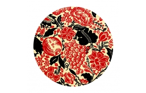 decorative ceramic plate Natura for drain plug, basins Cocktail, Flute, Hurricane