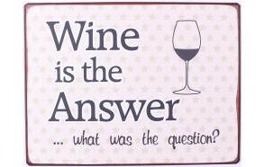 metal sign Wine