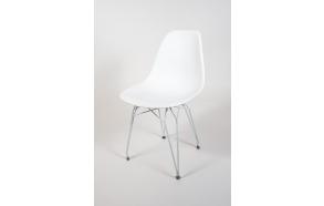 """chair Alexis, white, white metal """"Y"""" feet"""