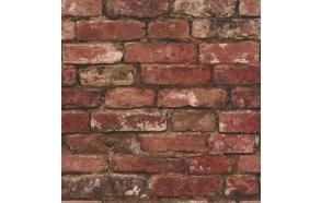 Rustic Brick Sidewall, Red