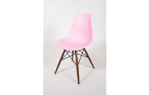 chair Alexis, pink, light brown feet
