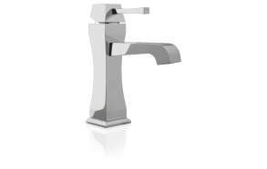 SINGLE LEVER BASIN MIXER WITH POP-UP WASTE EOS CHROME