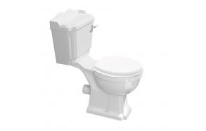 wc kompakt Antik, komplektis wc alus, paak, loputusmehhanism, plastiste (osad 1 ja 2)