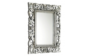 SAMBLUNG mirror with frame, 60x80cm, Silver Antique