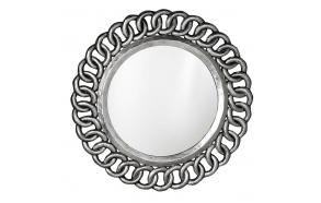 Circle mirror with frame,diam 80 cm, Silver Antique