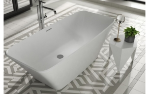 cast stone bath Anglesey, 180x80 cm, mat surface