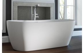 cast stone bath Hellisay, 170x75 cm, mat surface