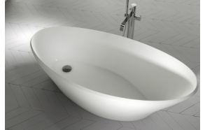 cast stone bath Cara, 170x75 cm, mat surface