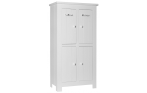 Barcelona - 4-door wardrobe, white