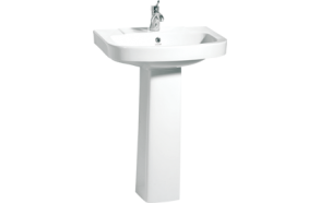 VITROYA 56 CM W.BASIN WITH HOLE WHITE