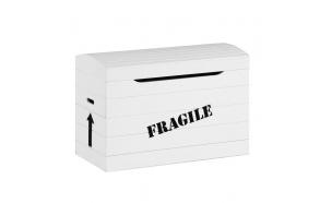 """Toy box """"Fragile"""", white"""