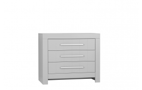 Calmo - 3-drawer chest, grey