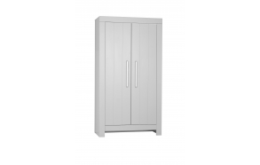 Calmo - 2-door wardrobe, grey