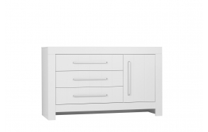 Calmo - 3-drawer + 1 door chest, white