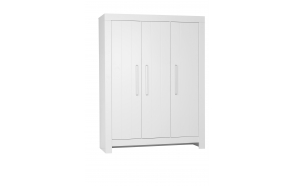 Calmo - 3-door wardrobe, white