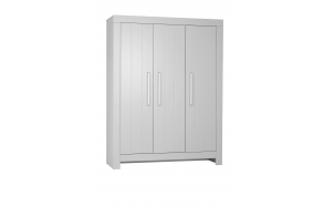Calmo - 3-door wardrobe, grey
