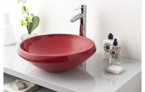 Ø 45 CM TOP COUNTER WASHBASIN EXT. RED