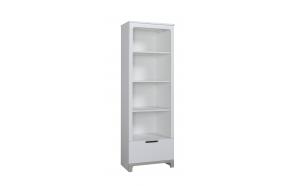 Mini – bookcase, white+grey