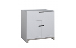 Mini - 2-door chest, white+grey