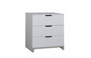 Mini - 3-drawer chest, white+grey