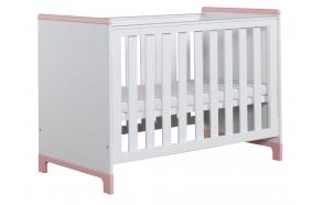 Mini - cot 120x60, white+pink