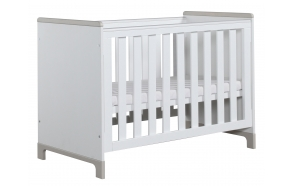Mini - cot 120x60, white+grey
