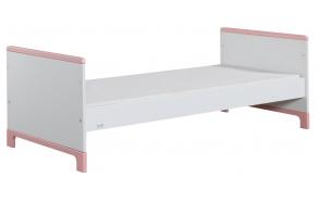 voodi juunior, 160x70, valge+roosa