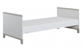 Mini - junior bed 160x70, white+grey