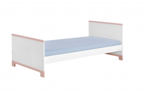 Mini - bed 200x90, white+pink